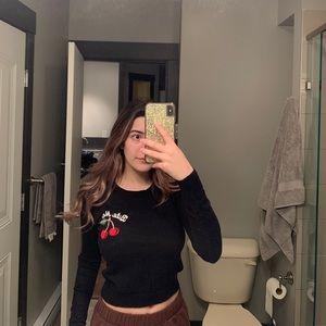Brandy Melville cherry sweater